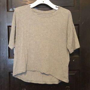 Lululemon high low grey t-shirt